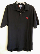 Ralph Lauren Black Polo Shirt Short Sleeve Split Hem RL Chaps Label siz ... - $19.77