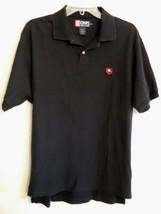 Ralph Lauren Black Polo Shirt Short Sleeve Split Hem RL Chaps Label siz ... - $19.77