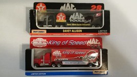 2 Matchbox Transporters 1993 Kenny Bernstein MAC Tools Racing #28 Davey Allison - $21.97