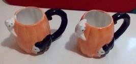 Halloween  Set Of Cat Ceramic Coffee Mug 22 fl oz - $11.30