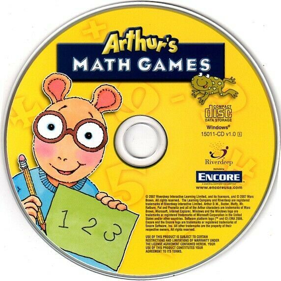 Arthur's Math Games (Ages 4-7) (PC-CD, 2006) for Windows - NEW CD in SLEEVE - $6.98