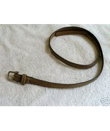 Leather Snakeskin Belt S - $10.00