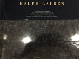 RALPH LAUREN JOURNEYS END MONTRAY 1pc QUEEN EXTRA DEEP FIT SHEET NAVY ni... - $94.04