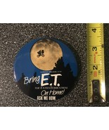 "Vintage ET Extra Terrestrial Pinback Button Movie Promo 3"" - SEE PICS - $9.75"