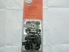 Kadee # 503 Arch Bar Metal Trucks With #148 Whisker Couplers 1 Pair HO Scale image 1