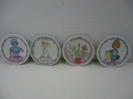 4 Precious Moments Mini Collector's Plates Love Never Fails Lisa Good Friends - $10.99
