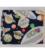 Fabric, Alexander Henry, 1997 Alien Arrival, UFOs Aliens Planets, 42 W 1... - $14.99