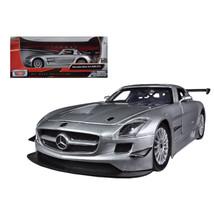 Mercedes SLS AMG GT3 Silver 1/24 Diecast Car Model by Motormax 73356s - $28.65