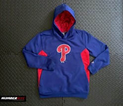 Philadelphia Phillies Majestic Hoodie Sweatshirt Size Large 14 16 MLB KI... - $24.74