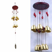 10 Bells Bronze Yard Garden Outdoor Living Wind Chimes 65cm Campanula Mascot Alu - $30.00
