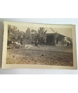 MAY 1915 POSTCARD ANTIQUE RPPC LADY HOUSE HORSE BUGGY REAL PICTURE POSTC... - $17.57