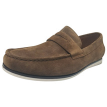 Alfani Mens Sawyer Slip-On Loafers Dark Tan 12M MSRP 79.99 New - $54.44