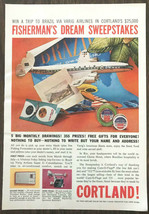 1959 Cortland Cam-O-Flage 333 Fishing Line Print Ad Fishermans Dream Swe... - $9.00