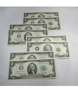 Consecutive 1976 Bicentennial $2 Federal Reserve Notes Crisp Gem Unc PC-520 - $47.34