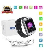 Smart Watch, Bluetooth Touch Screen Smartwatches Support SIM/TF (Silver ... - $27.12