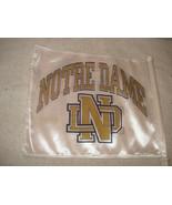 Notre Dame Fighting Irish NCAA 11X14 Window Mount 2-Sided Car Flag Vintage - $12.86