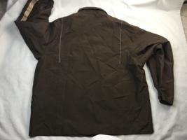 UPS Long Sleeve Full Zip Brown Rain Jacket Adult Men's Size L  (42-44) large  image 7