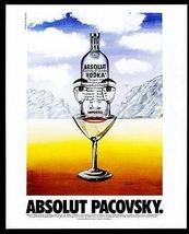Absolut Pacovsky AD 1996 Vodka Liquor Distillery John Pacovsky Advertising Art - $14.99
