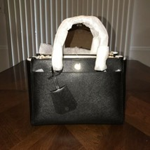 NWT Tory Burch Robinson Small Double Zip Tote Black - $280.14