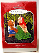 Hallmark: Mom and Dad - Bringing in Christmas Tree - 1998 - Holiday Ornament - $8.89
