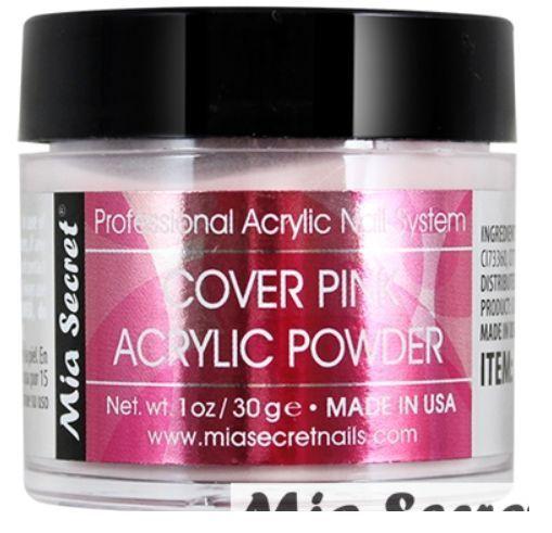 Mia Secret ACRYLIC POWDER - COVER BEIGE / PINK / ROSE - 1.0 Oz  2.0 Oz MADE USA