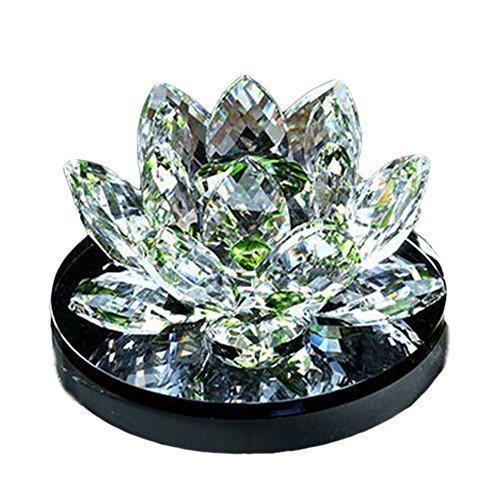 Fresh Green Crystal Lotus Car Decors Perfume Seat Auto Ornaments,4.73.52.2''