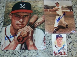 Eddie Mathews Signed 11x14 8x10 Baseball Photos Perez Steele Postcard PS... - $98.01