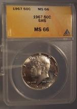 1967 SMS Kennedy Silver Clad Half Dollar ANACS MS 66 #G020 - $24.99
