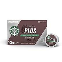 Starbucks Plus Coffee with 2X Caffeine Dark Roast K Cups - $16.78