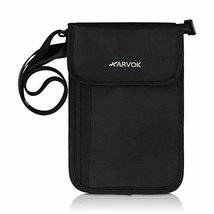 Arvok Premium Neck Stash Wallet RFID Blocking Travel Passport Holder Pou... - $12.18