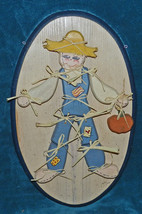 *CLEARANCE SALE* NICE JOINTED SCARECROW WOOD PLAQUE! THANKSGIVING/FALL! ... - $8.59