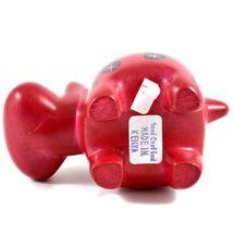 Tabaka Chigware Hand Carved Kisii Soapstone Red Black Hippopotamus Hippo Figure image 6