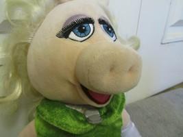 Disney Store Miss Piggy Muppet Most Wanted Plush Doll Green Dress Jim He... - $11.95