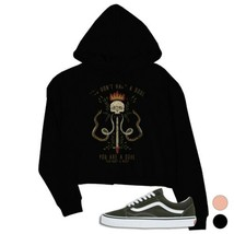 365 Printing You Are A Soul Urban Style Crop Hoodie - $27.99
