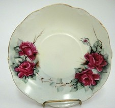 Vintage Rosenthal Versailles Bavaria Saucer Hand Painted Pink Roses Gilded Edge - $9.40