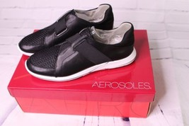 Aerosoles Side Track Casual Fashion Sneakers Black Combo Womens Size 6.5 - $44.54