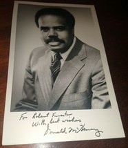 Ambassador DONALD McHENRY Autograph ~ Signed & Inscribed  B/W Photograph - $24.75