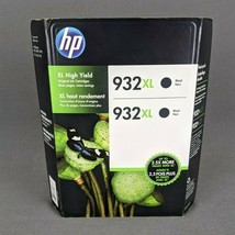 Genuine HP 932XL Inkjet Cartridges Black Twin Pack 2 CR315BN 585755 Exp 10/2017 - $24.14