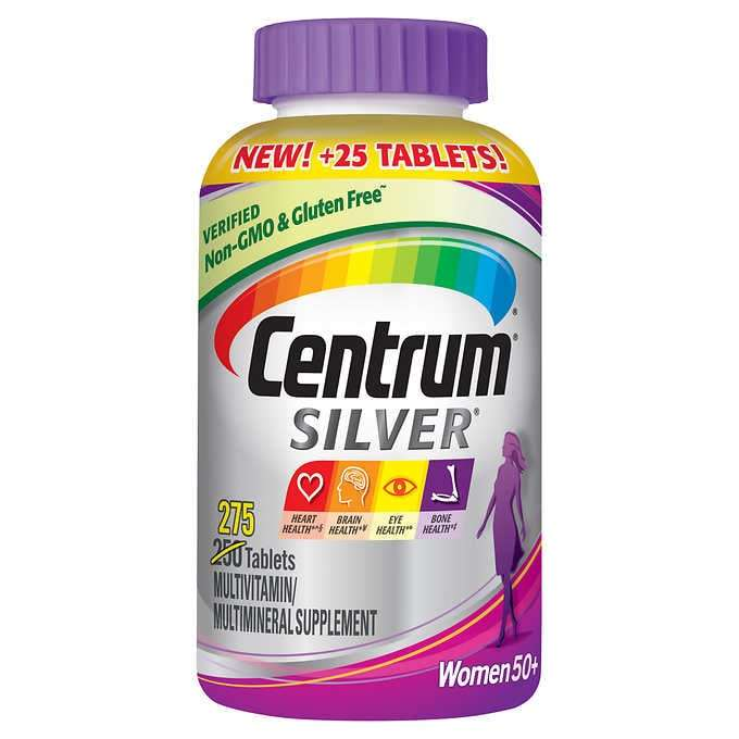 Primary image for 275 Tab Centrum Silver Women 50+ Multivitamin Multimineral Supplement Vitamin D3