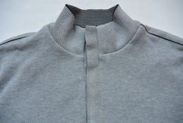 Boss Hugo Boss Sweater XXL Regular Fit Gray Cotton 1/2 Snap Buttons Mock Neck - $29.95