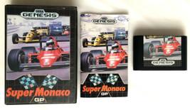 ☆ Super Monaco GP (Sega Genesis 1990) COMPLETE in Box Game Cart Manual W... - $14.99