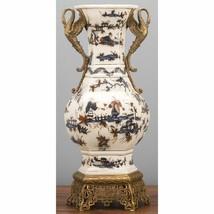 Stunning Antique Style  Classic Swan Bronze Ormolu Decorative Vase,19''H. - $381.15