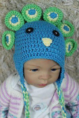 8ead1dbc5ab 1. 1. Knit Crochet Baby Child Kids Barbie Peacock Azul Hat Cap Newborn  Photo Prop Hat · Knit Crochet ...