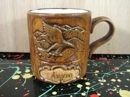 Arizona Souvenir Eagle in Desert Mug - Treasure Craft California Pottery - $11.25