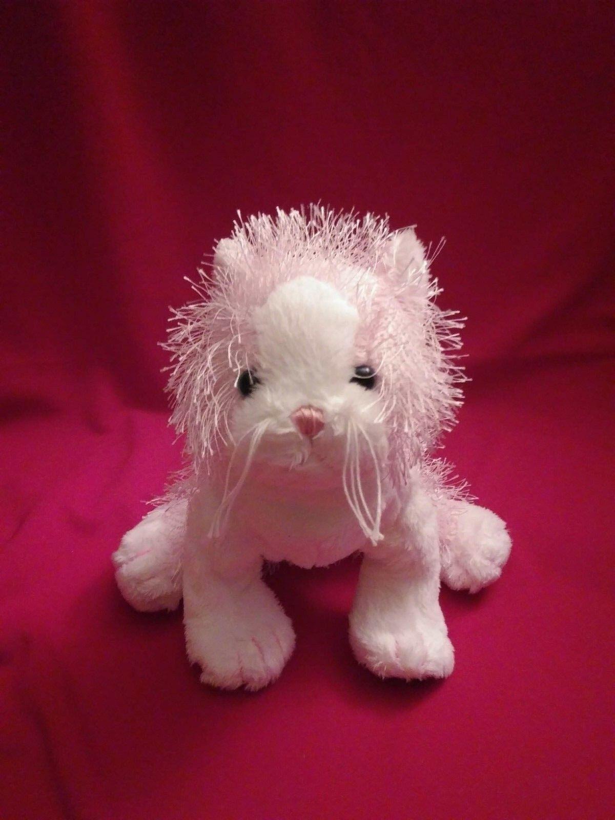 "14"" RARE Ganz Webkinz Pink & White Kitty Cat Plush Toy Stuffed Animal Free Shipp"