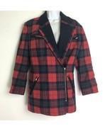Stephanie by Suzelle Women's Vintage 80's Red Tartan Plaid Wool Jacket S... - $39.59