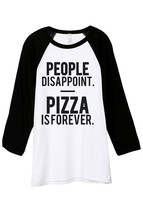 Thread Tank Pizza Is Forever Unisex 3/4 Sleeves Baseball Raglan T-Shirt ... - $24.99+