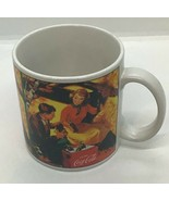 Coca Cola Coffee Mug Cup Picnic Scene Stoneware Sakura - $23.75