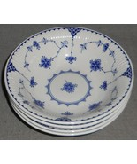 Set (4) Johnson Brothers DENMARK BLUE PATTERN Coupe Cereal Bowls - $59.39