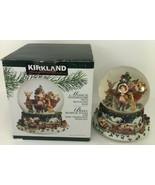 Kirkland Signature Musical Snow Waterglobe With Revolving Base Santa Sleigh - $49.49